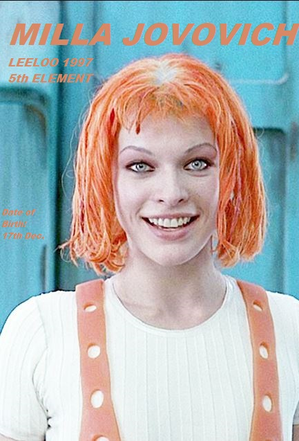 LEELOO MILLA JOVOVICH  THE FIFTH ELEMENT PETIT-DIEULOIS