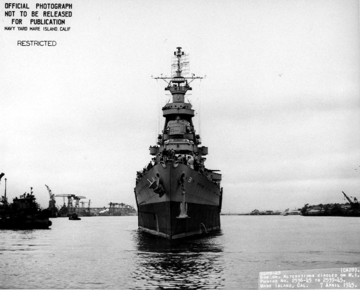 USS LOUISVILLE CA-28 JUNE 1945