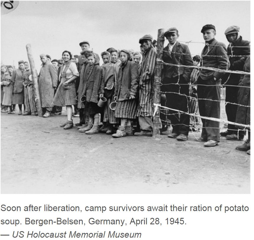 BERGEN BELSEN LIBERATED BY UK ARMY PETIT-DIEULOIS