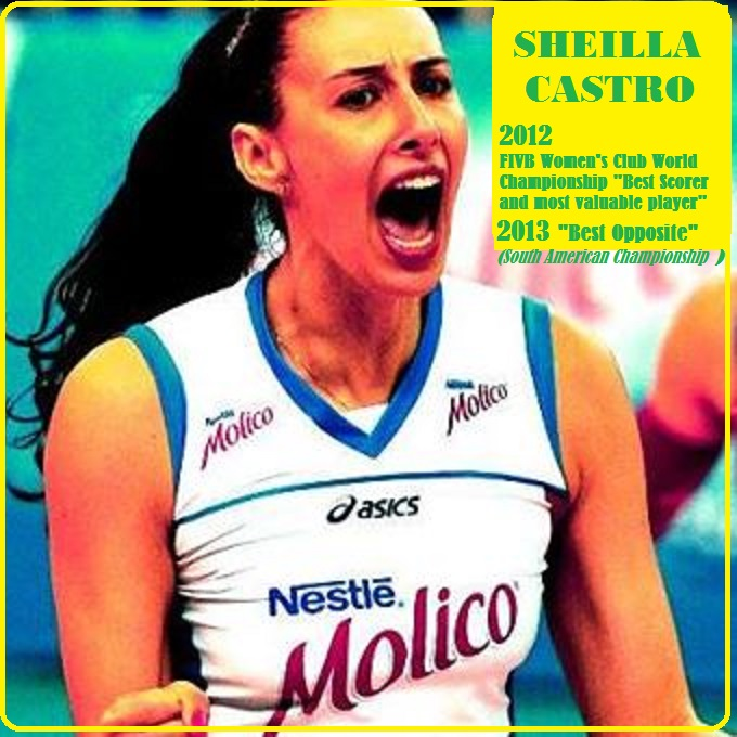 SHEILLA CASTRO : BEST OPPOSITE 2013 VOLLEYBALL DIEULOIS
