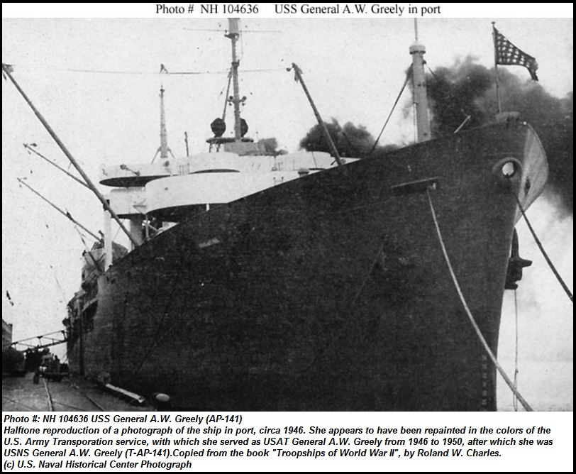 USS GENERAL A.W.GREELY DIEULOIS