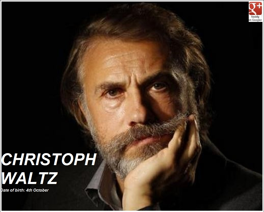 CHRISTOPH WALTZ 4th OCTOBER PETIT-DIEULOIS