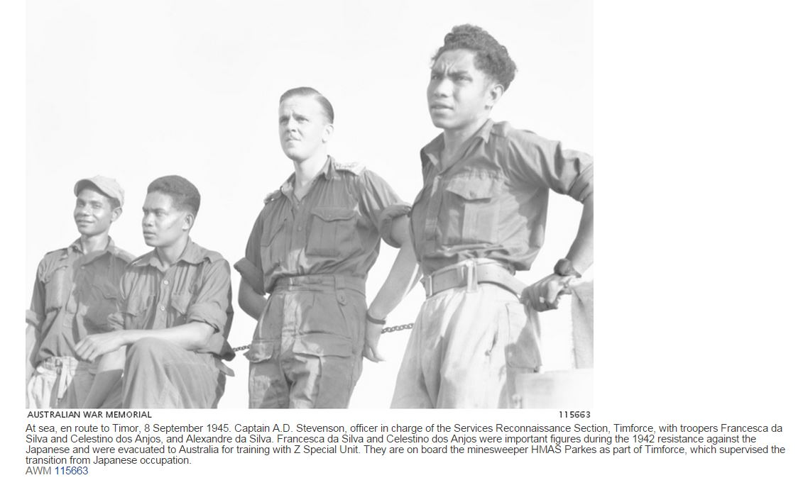 TIMOR: SEPT 1945 AUSTRALIA vs JAPAN PETIT-DIEULOIS