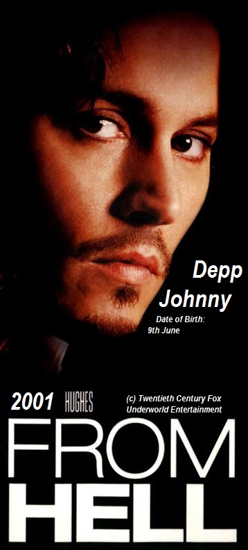 Johnny DEPP FROM HELL PETIT-DIEULOIS