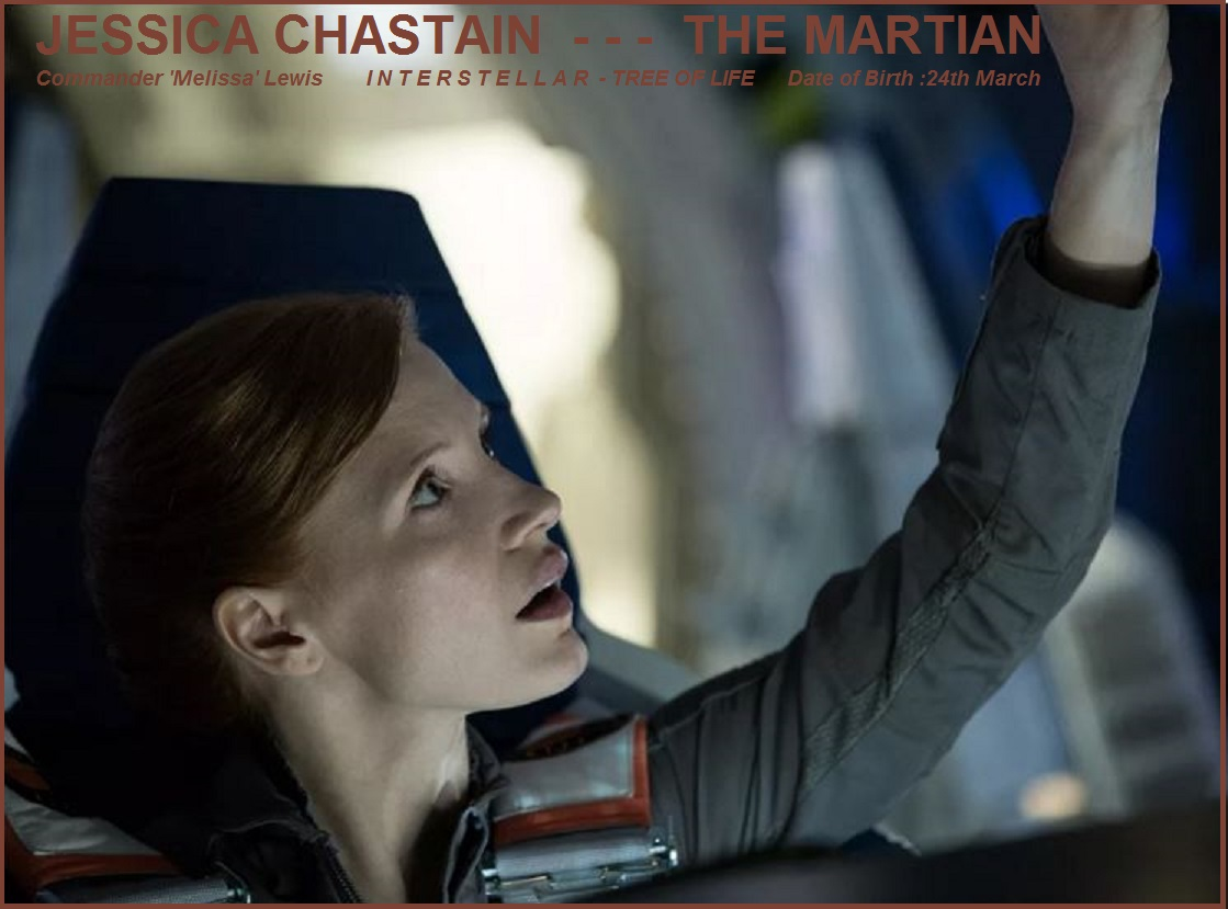 JESSICA CHASTAIN : THE MARTIANPETIT-DIEULOIS