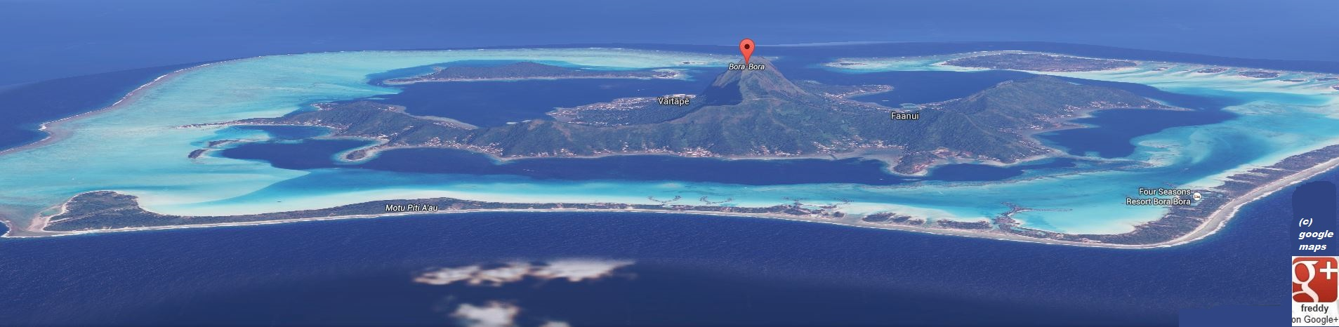 MAP OF BORA-BORA PETIT-DIEULOIS