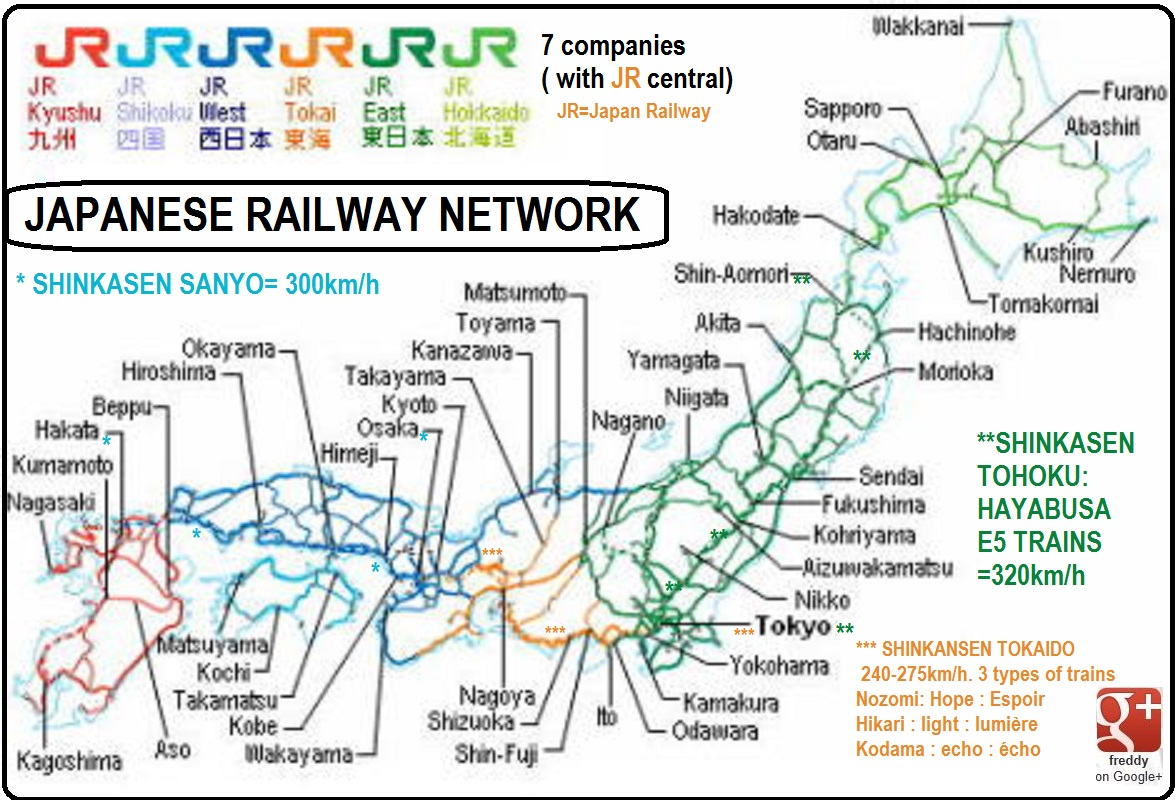 JAPANESE RAILWAYS NETWORK DIEULOIS