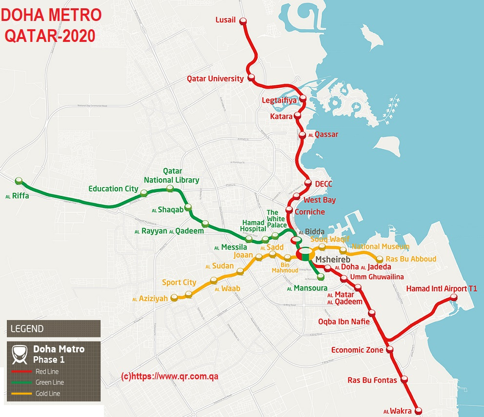 Doha metro::PLAN & MAP & CARTE
