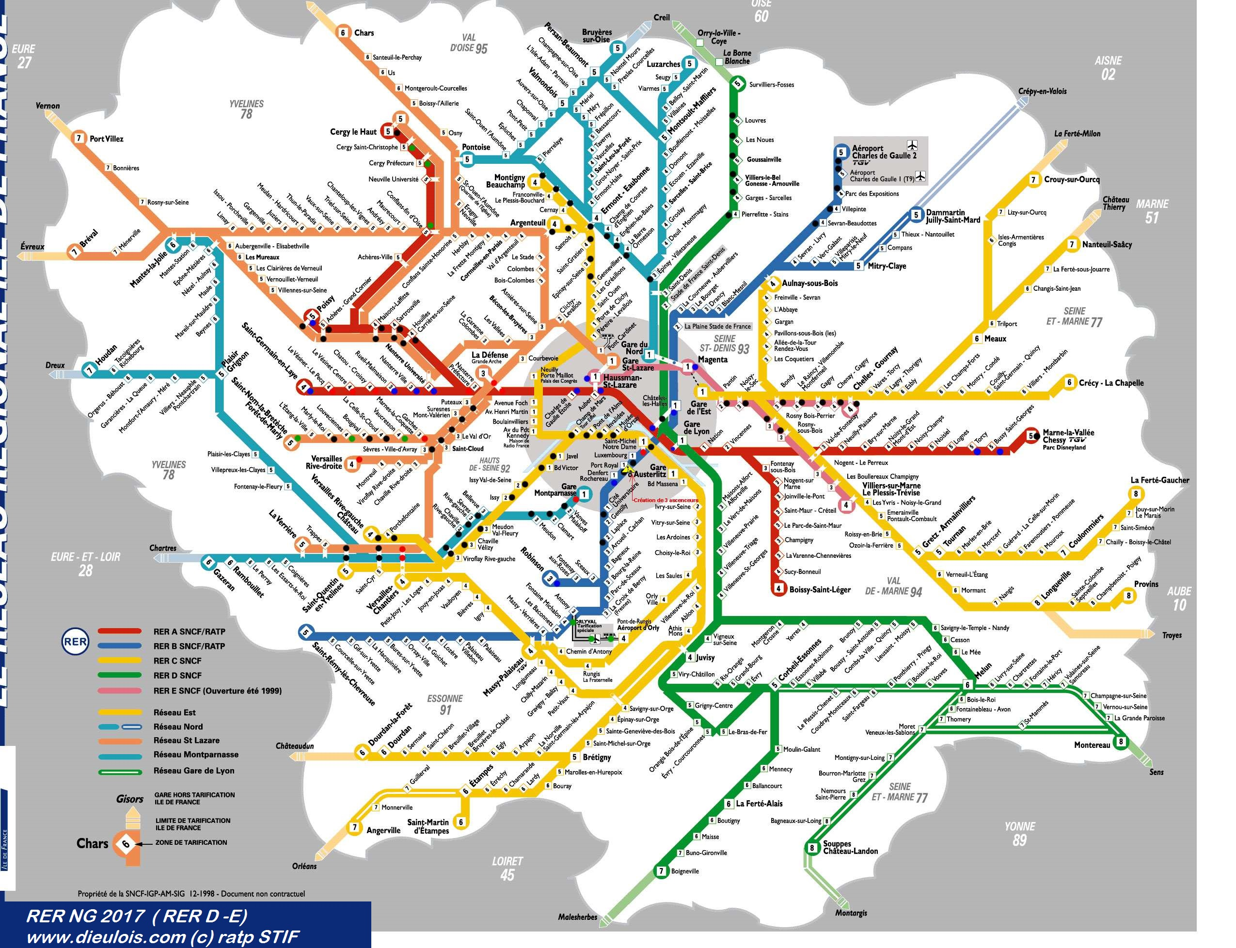 RER PLAN CARTE RERPLAN