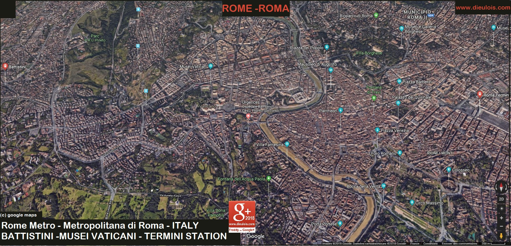 Rome metro::PLAN & MAP & CARTE
