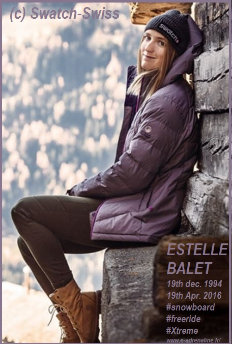 ESTELLE BALET CURRENT SNOWBOARD WORLD CHAMPION DIEULOIS