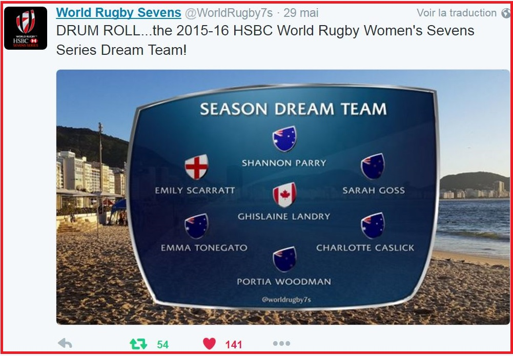 2016 DREAM TEAM RUGBY7 WOMEN-DIEULOIS