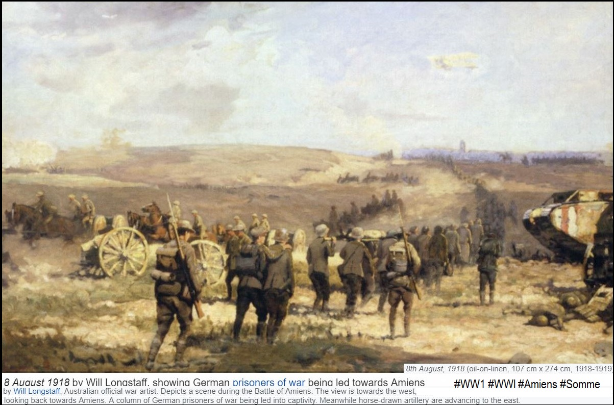 BATTLE OF AMIENS 8aug 1918 2nd BATTLE OF THE SOMME DIEULOIS