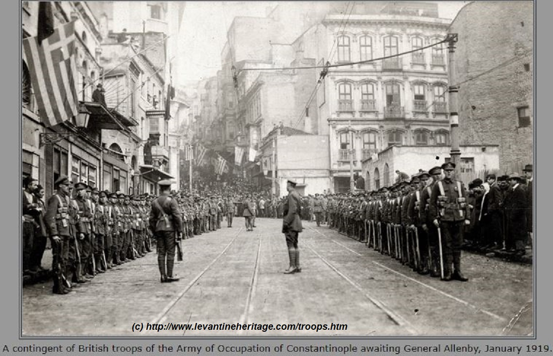 WW1 SALONIKA 18nov18 FLEET CONSTANTINOPLE