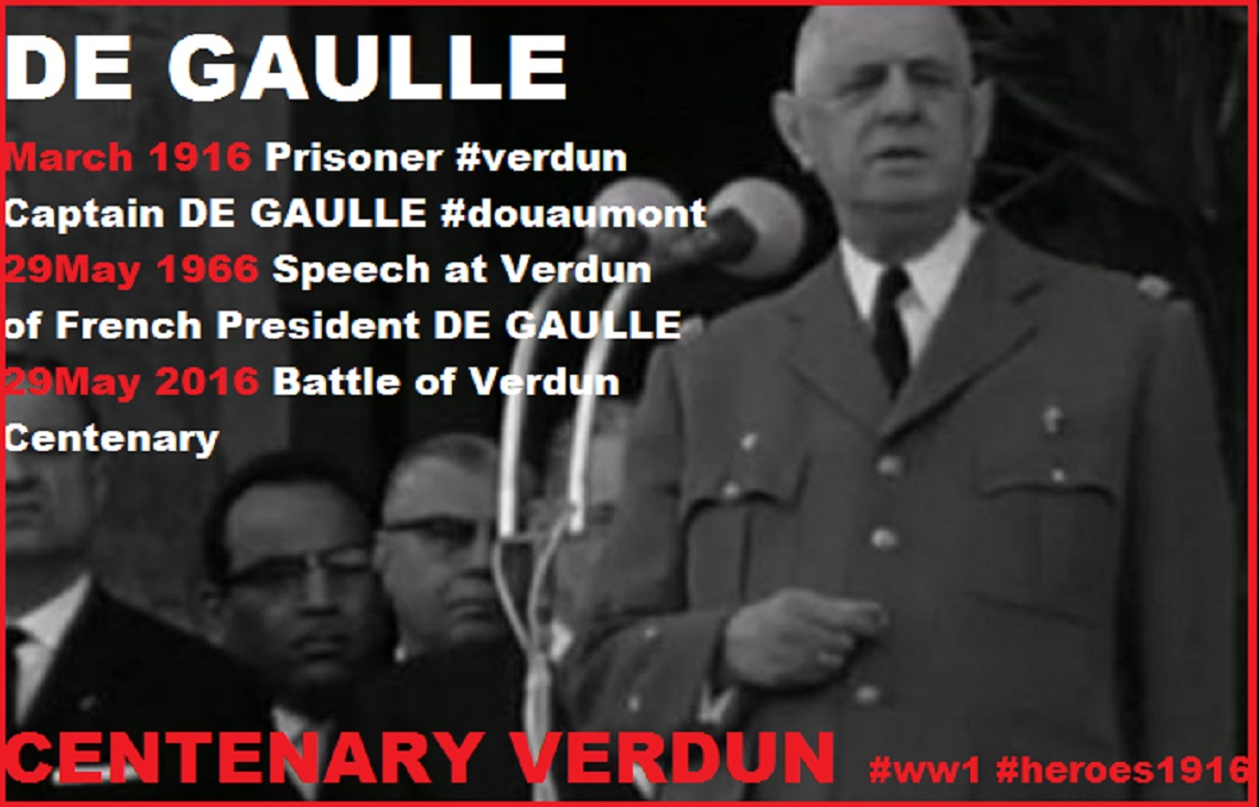 DE GAULLE VERDUN 29th MAY 1966 DIEULOIS