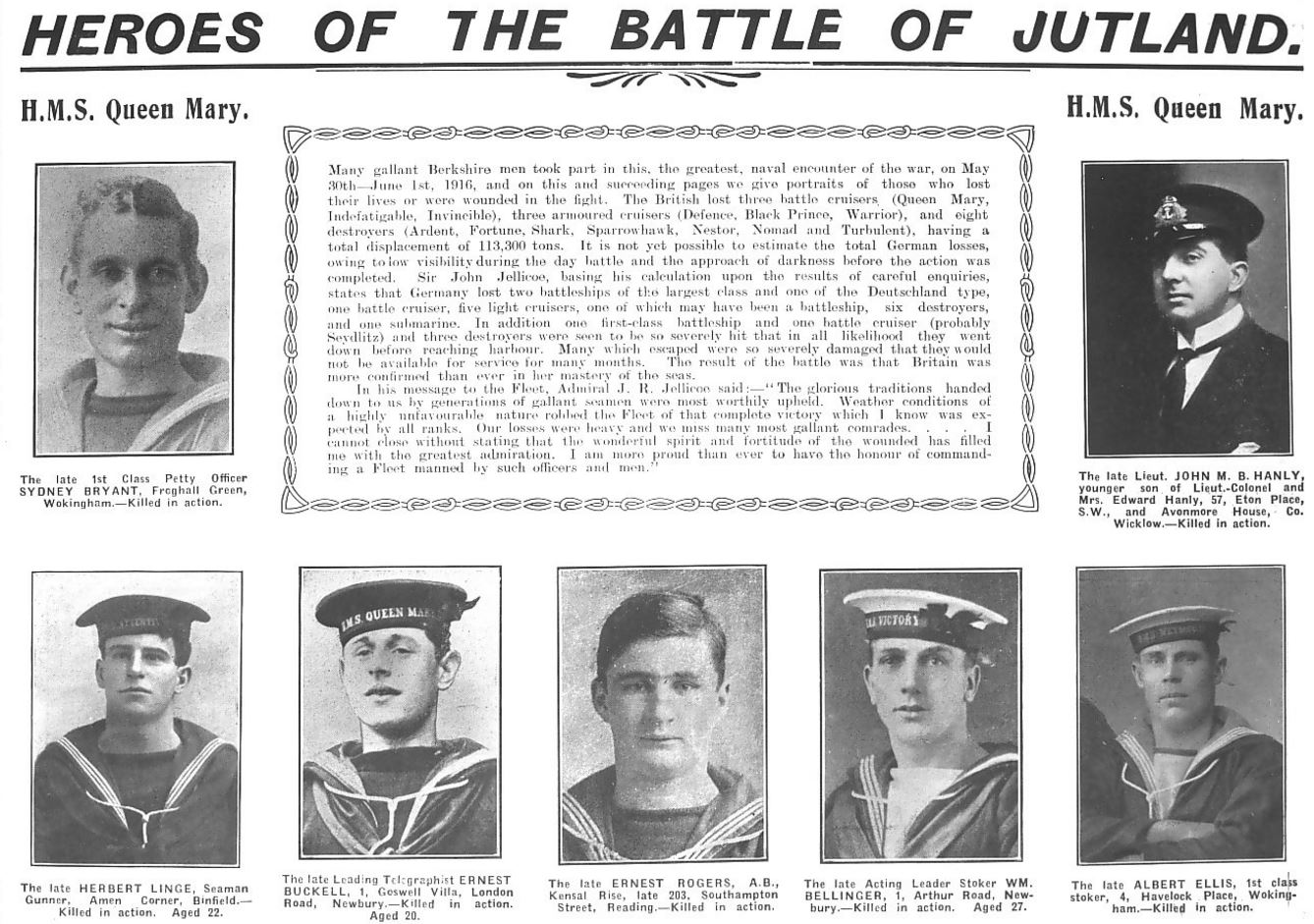 BATTLE OF JUTLAND 1st JUNE 1916 DIEULOIS
