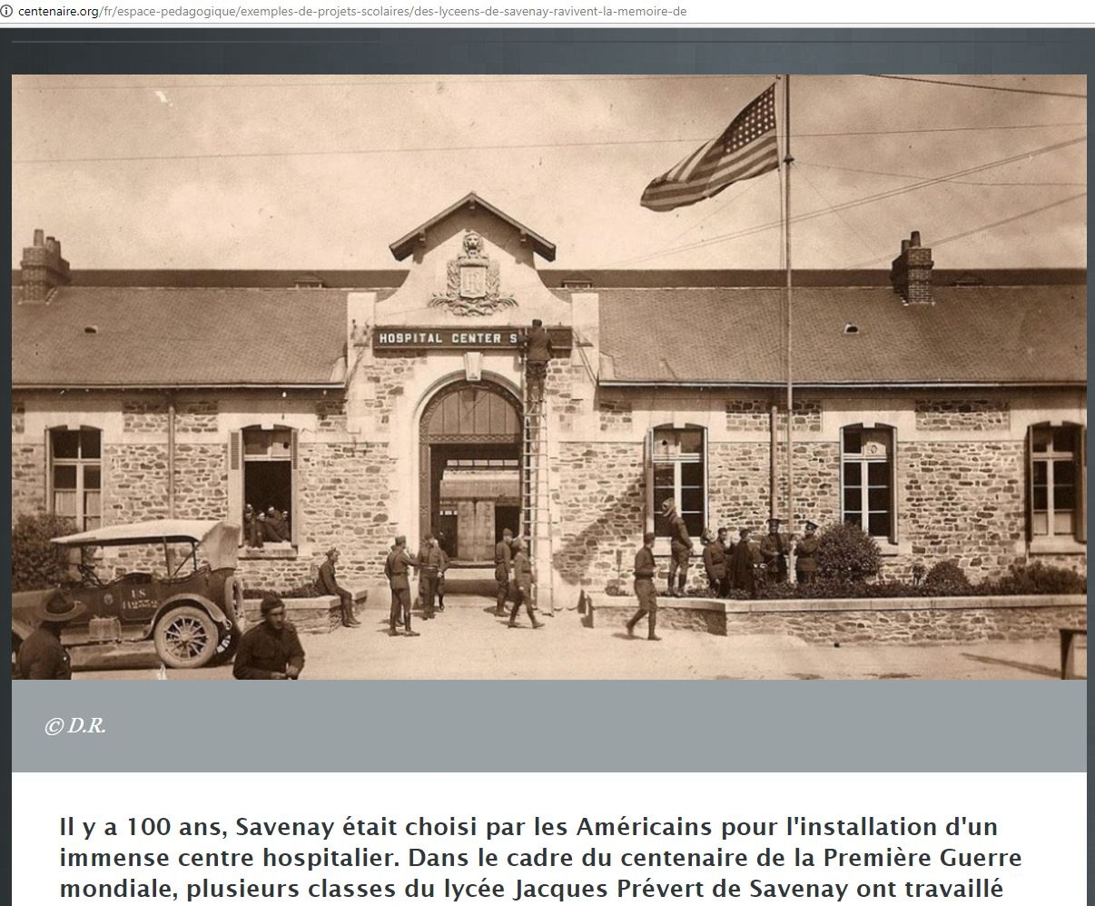 SAVENAY HOSPITAL 1917 PETIT-DIEULOIS