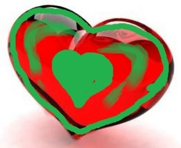PETIT-DIEULOIS my green-red heart