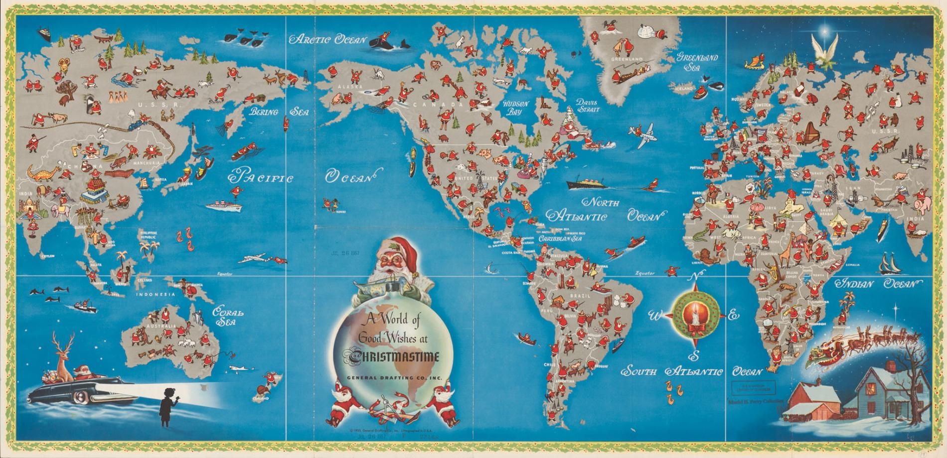 SANTA CLAUS MAP DIEULOIS