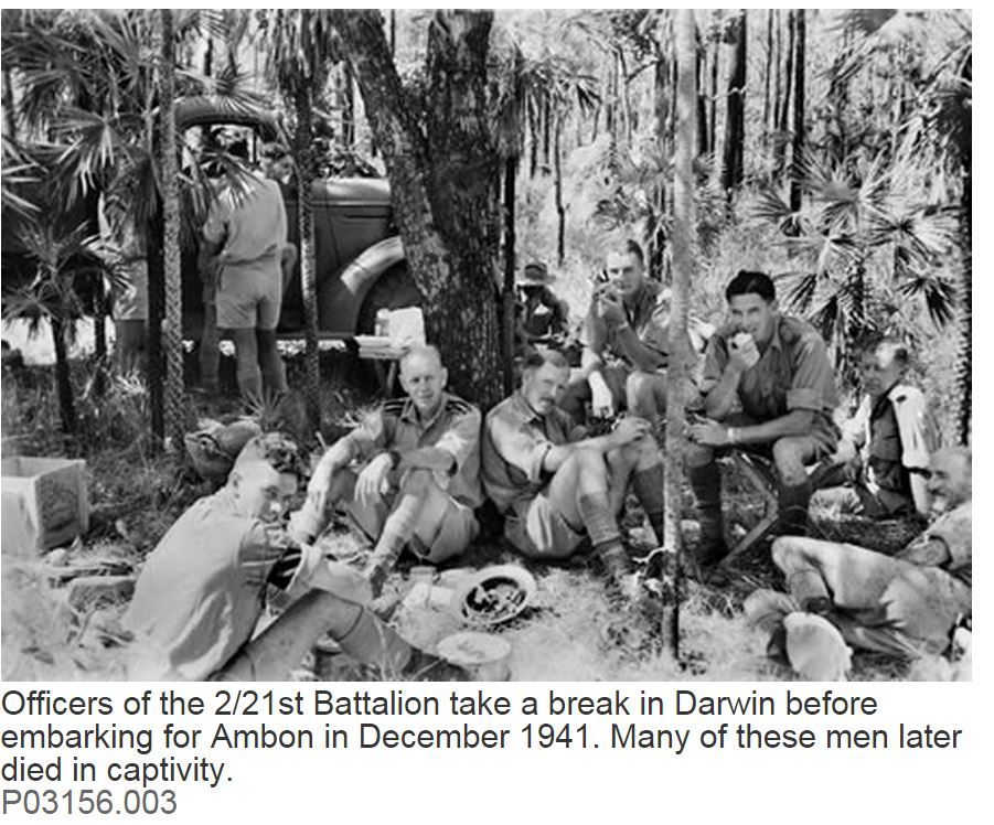 2/21st AUSTRALIAN BATTALION:MASSACRE AT AMBON