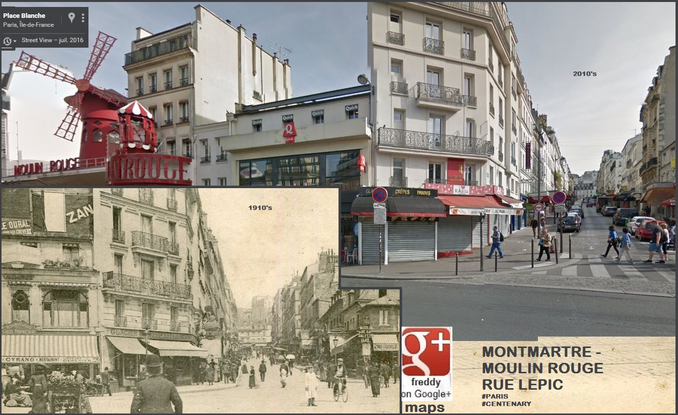 MONTMARTRE PLACE BLANCHE MOULIN ROUGE