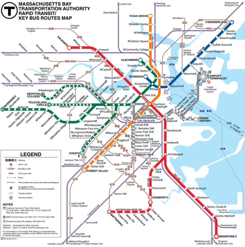 Boston metro::MASSASSUCHETS METRO MAP