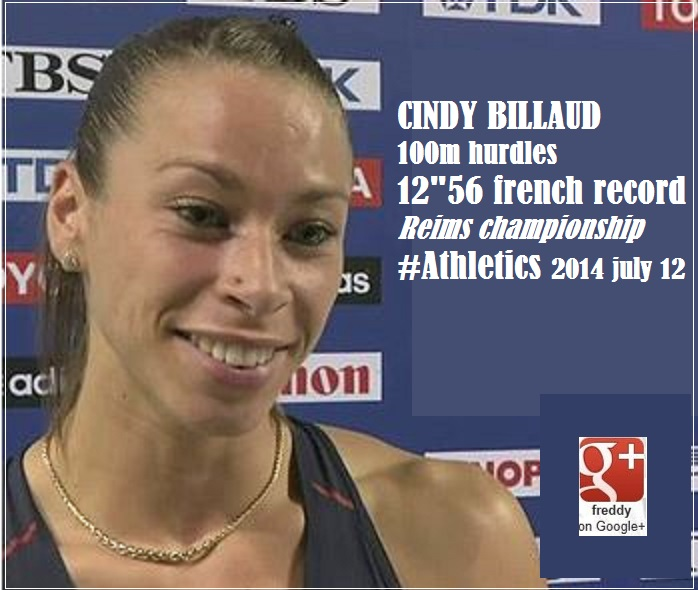 CINDY BILLAUD 100m hurdles