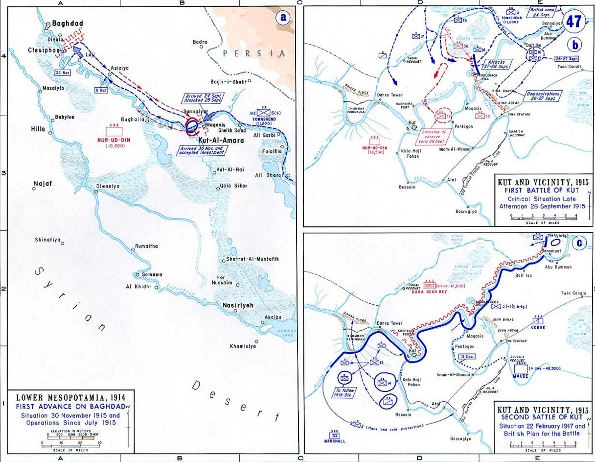 FIRST BATTLE OF KUT 5th APRIL1916