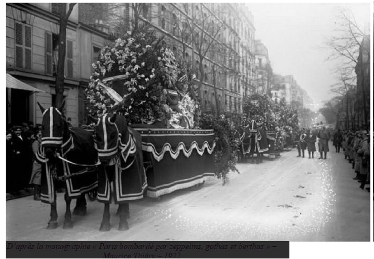STATE FUNERAL AFTER ZEPPELIN BOMBING :29JAN1916 DIEULOIS